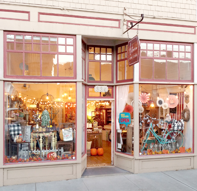 Fall Store Front Photo Finally!  Finally a gap in cars along the sidewalk to take the picture!  Online shop will have some items soon!