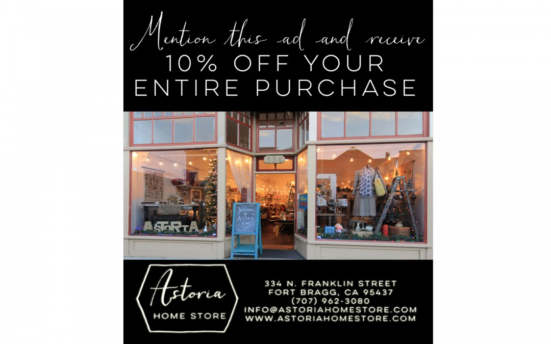 It's Small Business Saturday! Mention this Ad today and receive 10% off your purchases!