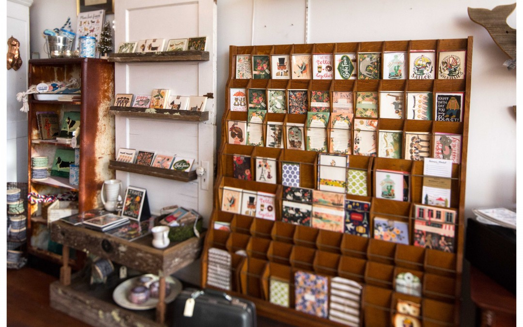 Come check out Astoria's Rifle Paper Co, Little Low, and Emily McDowell cards!