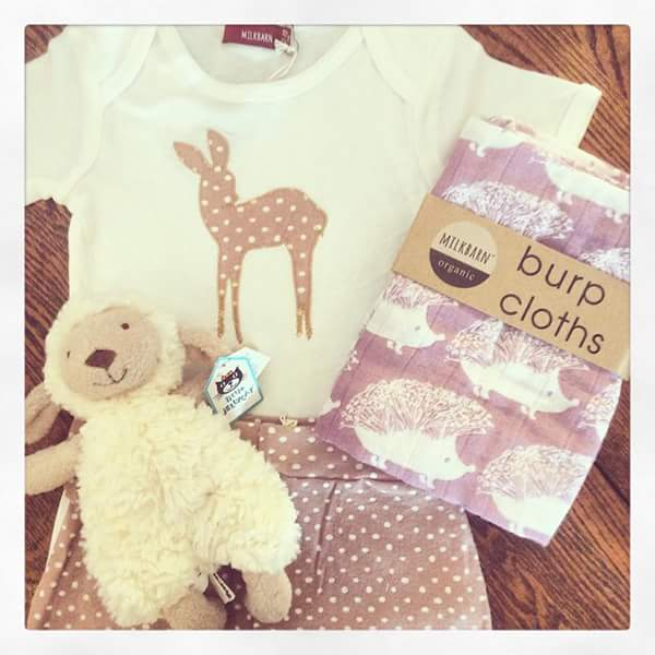 Did you know that we have a baby registry?  Choose from a selection of incredibly soft, organic, high quality baby clothes and accessories.