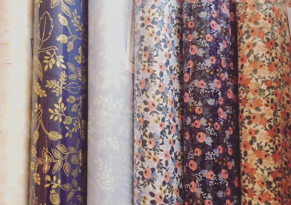 Rifle Paper Company Fabric is Here!  Cotton and Steel  Shop Local – Shop Small  at Astoria Home Decor and Gift Shop in Downtown Fort Bragg, CA