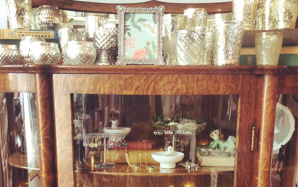 We just got a new shipment of mercury glass votives!  They're ready for your holiday table or mantle.