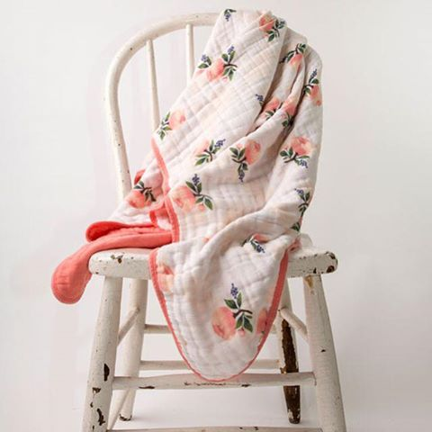Just in!  Our new line of lovely muslin crib sheets, quilts, bibs, and more!
