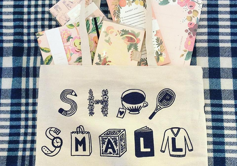 We were delighted to discover our favorite Rifle Paper Co collaborated with Small Business Saturday  to bring you free shopping bags!  This Saturday, the first 20 customers will receive a free tote and a special treat!  We also have a raffle!