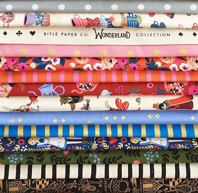 The new Wonderland Collection from Rifle Paper Co  is coming to Astoria at the end of the month!  Stay tuned and think of a fun project!!!  We will also have some fun fabric giveaways!!