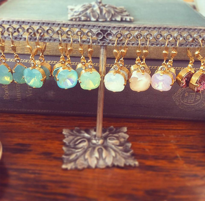 Lots of pretty new French-made crystal earrings from La Vie!  They make great gifts and are easy to dress up or down