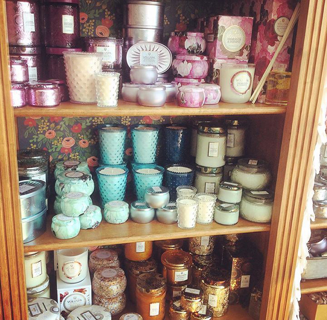 Lots of new and restocked Voluspa candles in stock!  We also have a tasty beverage to share for tonight!  See you later!