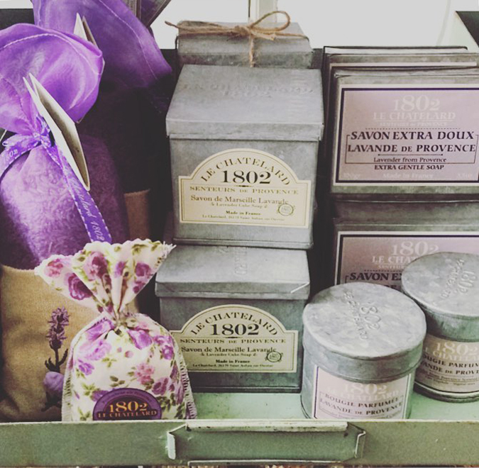 New soaps, candles, and sachets from Provence in the store!  Lavender, white fig, and sandalwood are some of our favorites!!