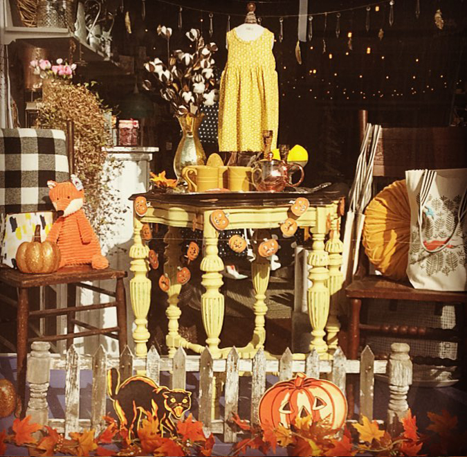 Happy Halloween window!  We love this time of year!! . . .
