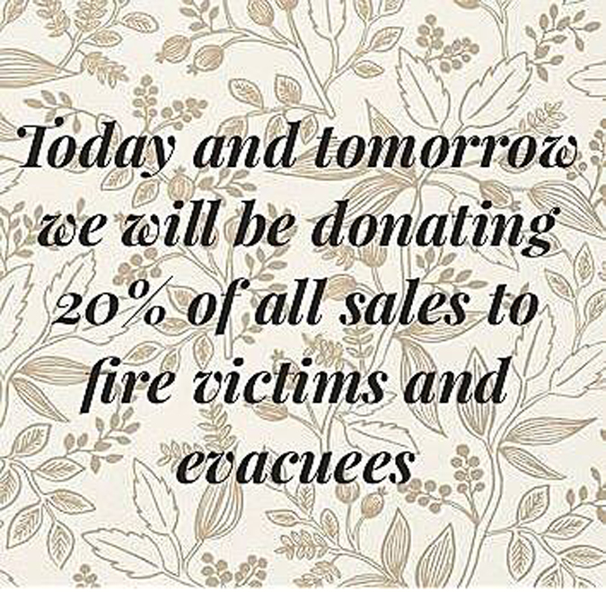 Stop by today or tomorrow to shop some great new items and help our community.