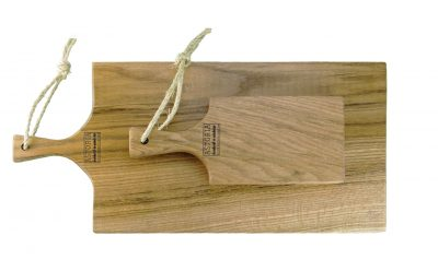 Hand Made in Mendocino Small with Large Oak Hardwood Charcuterie Serving Paddle Platter - Cheese Boards - Astoria Home Store and Gift Shop - Fort Bragg