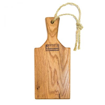 Handcrafted in Mendocino - USA MADE in Mendocino Village Small Red Oak Charcuterie Board Cheese Board - Paddle with Jute Twine