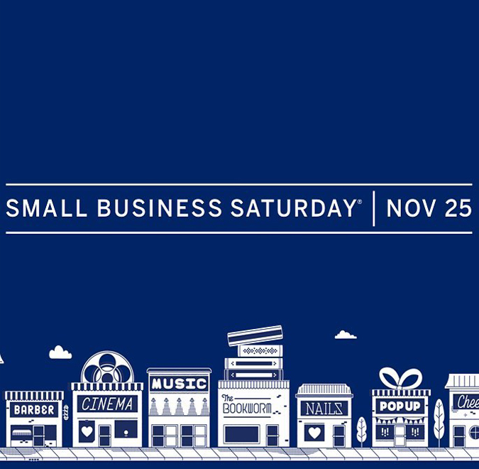 Support your local businesses this Saturday by shopping small!  We will be open at 10am and have some great raffle prizes for our shoppers  in addition to free canvas shopping bags for the first five customers!