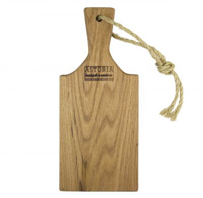 Small Solid Red Oak Cheese Charcuterie Board Paddle With Handle and Twine Strap - USA MADE IN USA - Handmade in Mendocino Handcrafted Gift