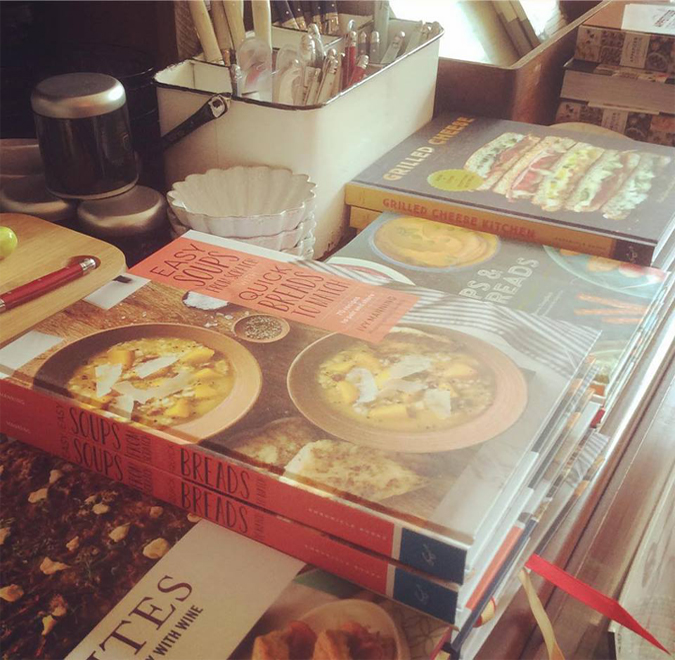 Just got a shipment of cookbooks!  Pair with our new cutting boards and Laguiole knives for a great gift!