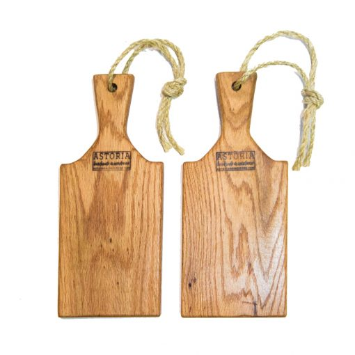 Handcrafted in Mendocino - USA MADE in Mendocino Village Small Red Oak Charcuterie Board Cheese Board - Paddle with Jute Twine - Double Deal Sale 2