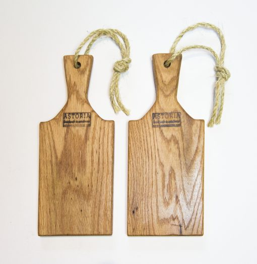 Handcrafted in Mendocino - USA MADE in Mendocino Village Small Red Oak Charcuterie Board Cheese Board - Paddle with Jute Twine - Double Deal Sale