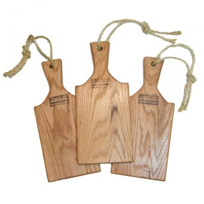Handcrafted in Mendocino - USA MADE in Mendocino Village Small Red Oak Charcuterie Board Cheese Board - Paddle with Jute Twine - Triple Deal Sale 3