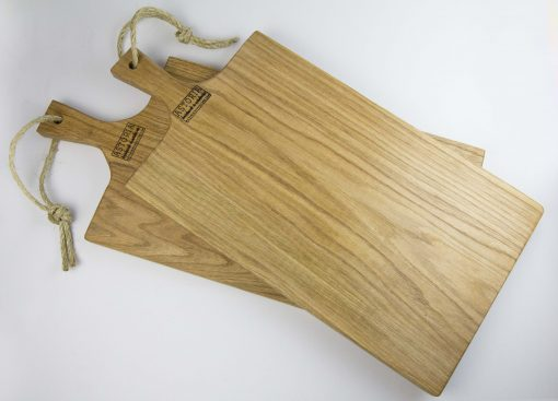 USA MADE Handcrafted Large Pair of Hand Made Mendocino Red Oak Hardwood Charcuterie Serving Set Platter Paddle Cutting Board - Astoria Home Decor and Gift Shop Mendocino