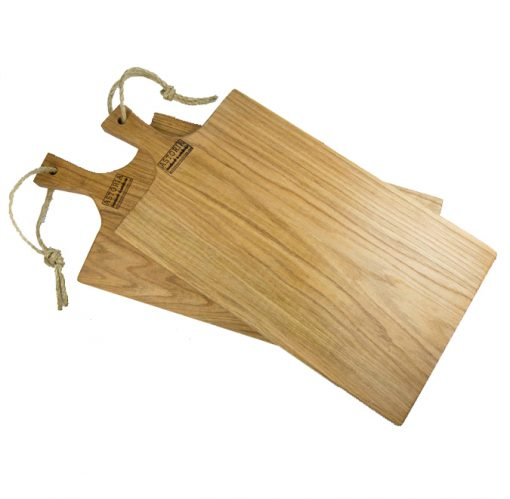 USA Made Handcrafted Large Pair of Hand Made Mendocino Red Oak Hardwood Charcuterie Serving Set Platters Paddles Cutting Boards - Astoria Home Decor and Gift Shop - Product Preview