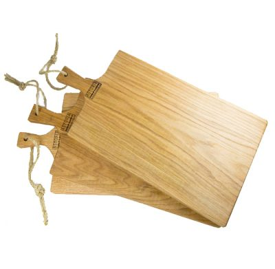 Large Set of 3 Hand Made Mendocino Red Oak Hardwood Serving Platter Paddle Cutting Board - Astoria Home Decor and Gift Shop - Product Preview