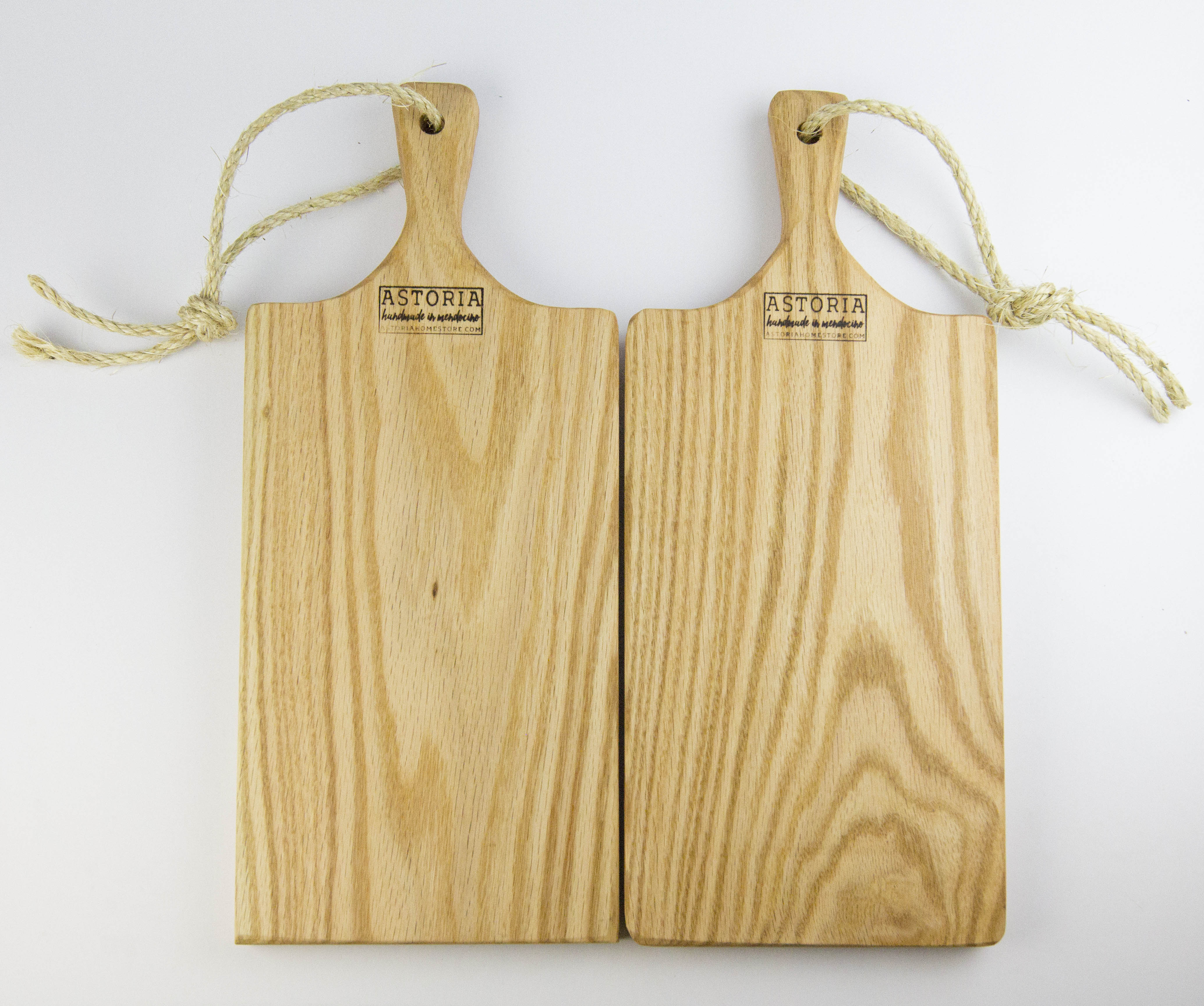 Two Medium Solid Red Oak Charcuterie Serving Board Set Handmade In Mendocino California Combo Deal Save 20 Astoria Home Decor And Gift Shop In Downtown Mendocino