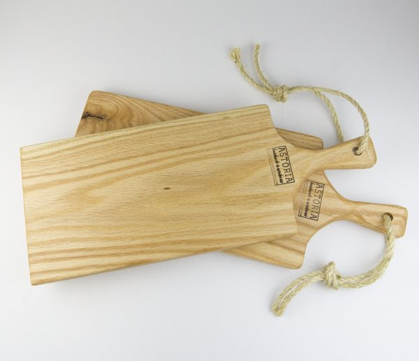 Medium Pair of Hand Made Mendocino Red Oak Hardwood Charcuterie Serving Platter Paddle Cutting Board - Astoria Home Decor and Gift Shop Fort Bragg