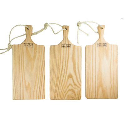 Medium Set of 3 Hand Made Mendocino Red Oak Hardwood Serving Platter Paddle Cutting Board - Astoria Home Decor and Gift Shop - Product Preview