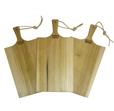 Poplar Large Charcuterie Board - USA MADE IN USA - Triple Deal Sale Save - Handcrafted Handmade in Mendocino Village - Astoria Brand Stamp - Cheese Board Bread Board x3