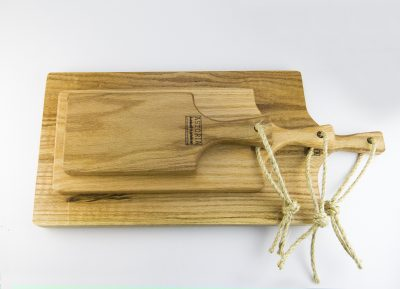 Small Medium and Large Hand Made in Mendocino Red Oak Hardwood Charcuterie Serving Platter Paddle Cutting Board - Cheese Boards - Astoria Home Decor & Gift Shop Fort Bragg