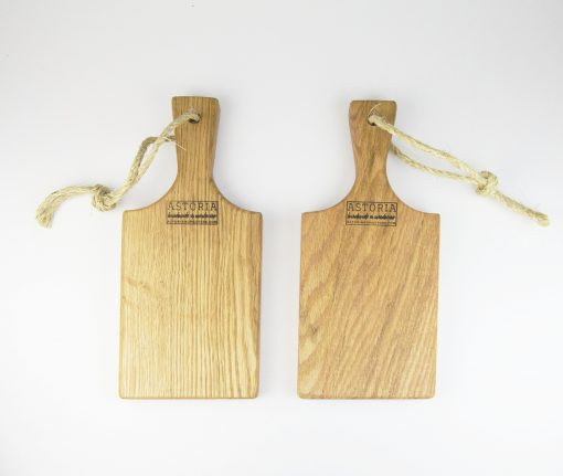 Small Pair of Cheese Boards Hand Made Mendocino Red Oak Hardwood Serving Platter Paddle Cutting Board - Astoria Home Decor and Gift Shop Fort Bragg