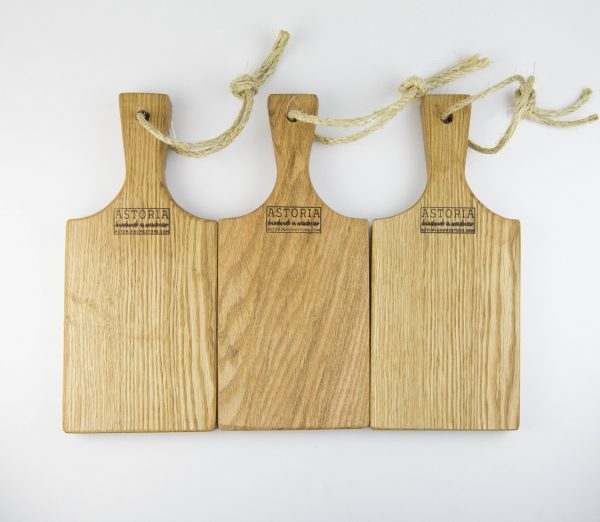 Small Set of 3 Cheese Boards Hand Made Mendocino Red Oak Hardwood Serving Platter Paddle Cutting Board - Astoria Home Decor and Gift Shop Fort Bragg