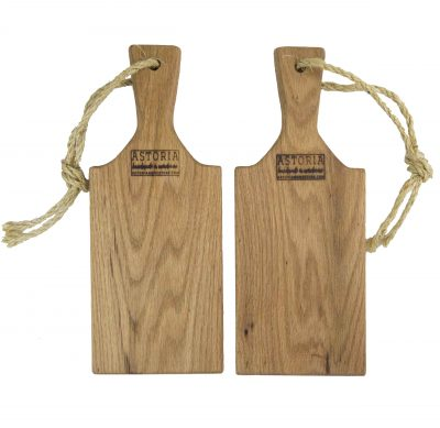 Small Solid Red Oak Cheese Charcuterie Board Paddle - USA MADE IN USA - Handmade in Mendocino Handcrafted Gift Set - Double Deal Combo Deal