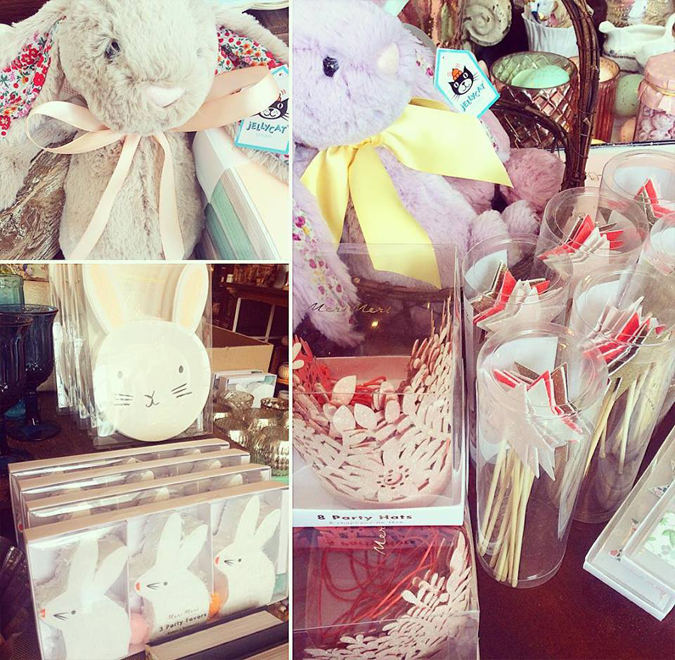 So many cute new spring things!  Planning an Easter party?  We just got these adorable bunny plates and piñata favors!