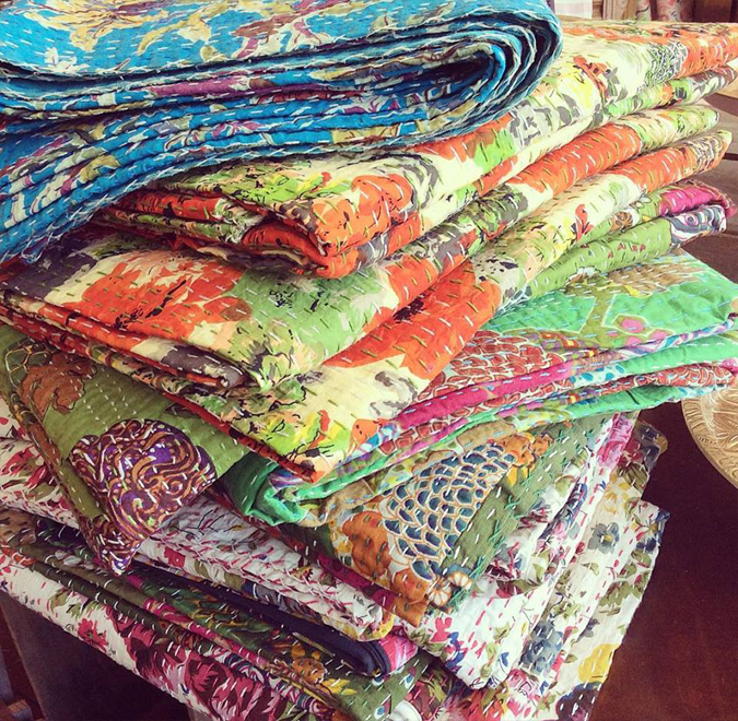 So many colorful lightweight quilts!!!  We even got some pillows and king sized ones!