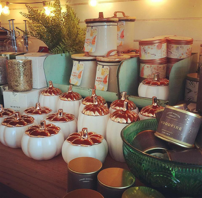 Pumpkin candles are here!!!!!!!  We sold out of the ceramic ones last year in a day!  Come get yours before they're gone!  We also have a small selection of our other seasonal favorites:  Balsam & Cedar, Winter White, and Woodfire!