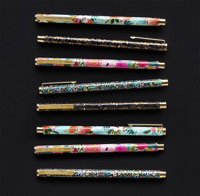 Lots of new goodies from Rifle Paper are in the shop including these dreamy pens