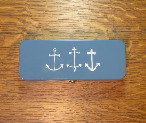 Nautical Themed - Astoria Home Store Fort Bragg – Mendocino CA - Anchor Pencil Pen Case Danica - 1