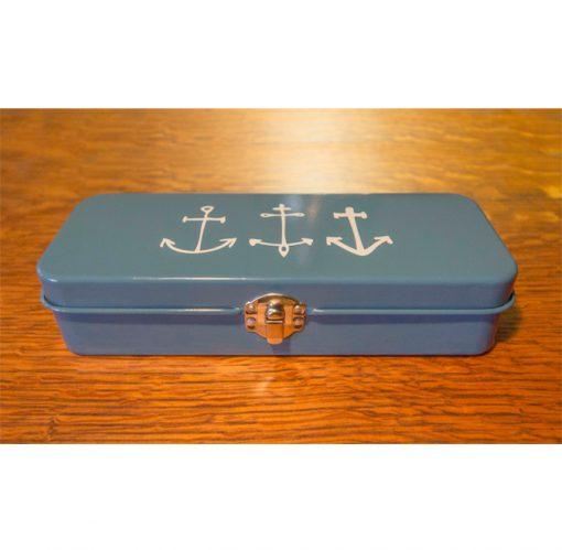 Nautical Themed - Astoria Home Store Fort Bragg – Mendocino CA - Anchor Pencil Pen Case Danica - Product Preview