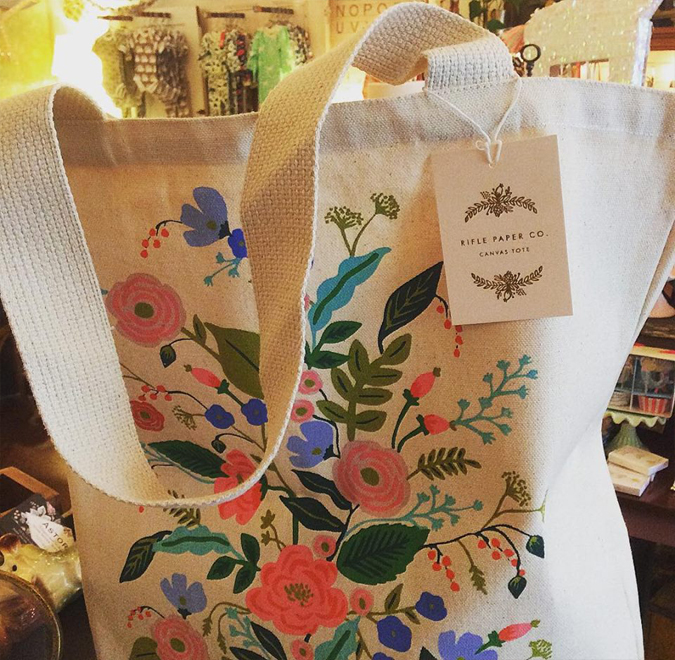 Because  naturally they'd introduce tote bags too…  just got these nicely sized canvas totes from Rifle Paper!
