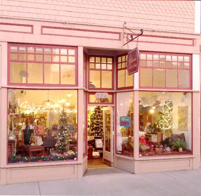 We are all ready and set up  for your Christmas – Holiday shopping!  Come by and check out our new window displays  and all the wonderful things inside!