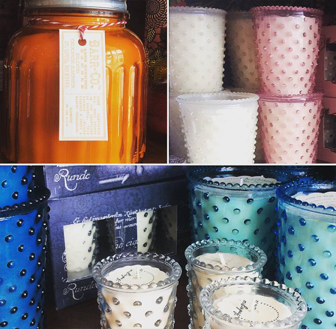 Lots of your favorites from Barr-Co and Simpatico are back in stock!  All American farmed vegetable wax and hand poured in St. Louis.