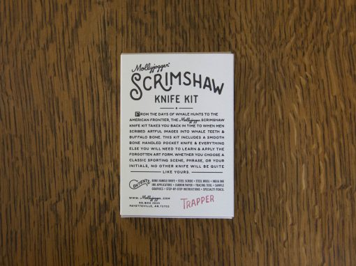 Scrimshaw Kit for Scrimshaw Knife - Trapper Knife - Astoria Home Store and Gift Shop - Mendocino North Coast Gifts - Lost Coast Gifts