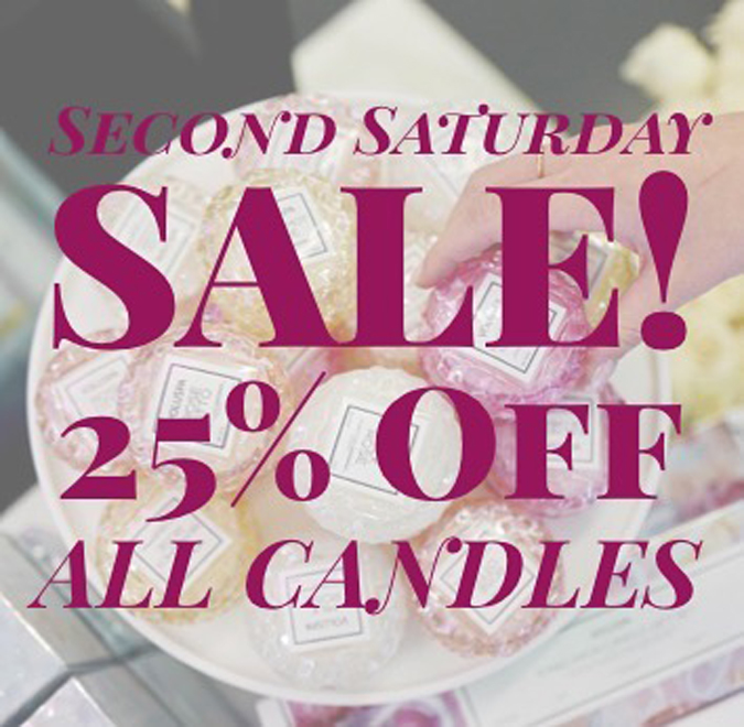 Starting at 5, stop by our new space in Mendocino, enjoy a tasty beverage, and receive 25% off all candles! We wanted to say THANK YOU to all of our customers and your support during our move!