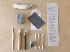 Scrimshaw Kit for Scrimshaw Knife - Lock-Back Knife - Astoria Home Store and Gift Shop - Mendocino North Coast Gifts - Lost Coast Gifts