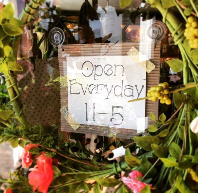 We're now open everyday 11-5! Yay!