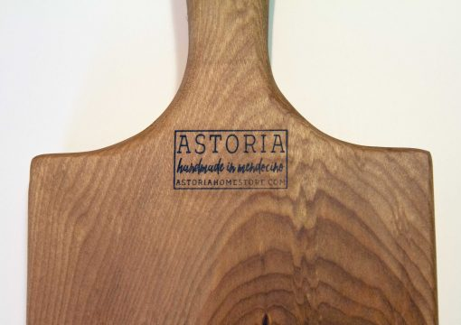 Handmade in Mendocino Astoria Home Store Gift Shop Downtown Mendocino Village Birch Charcuterie Board Closeup