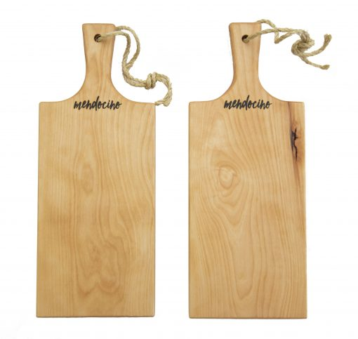Made in USA Handcrafted Handmade in Mendocino - Mendocino Stamped Charcuterie Cheese Paddle Board - Medium Birch Hardwood - Two Combo Deal - Astoria Home Decor and Gift Shop in Downtown Mendocino
