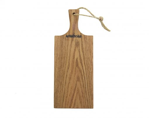 USA Hand Crafted Handmade in Mendocino - Mendocino Stamped Charcuterie Cheese Paddle Board - Medium Red Oak Hardwood