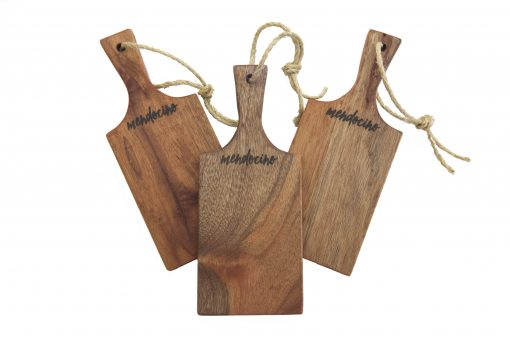 Handmade in Mendocino - Mendocino Stamped Charcuterie Cheese Paddle Board - Small Mahogany Hardwood - Three Combo Deal - Astoria Home Decor and Gift Shop in Downtown Mendocino